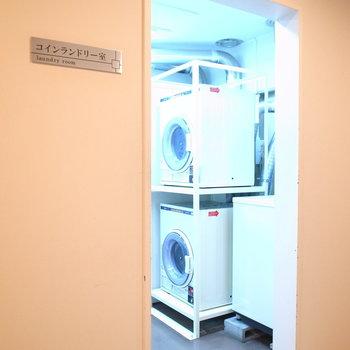 【共用部】室内に洗濯機がありますが、コインランドリーも使えます。
