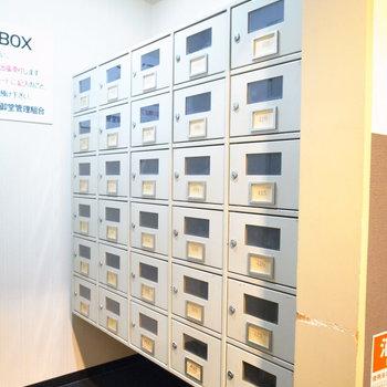 【共用部】その向かいにはクリーニングBOXというものが。