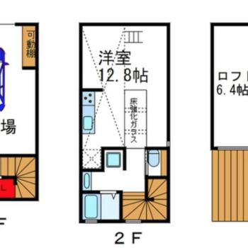 3階建てのようなメゾネットタイプ。※募集中の実際の間取りです。