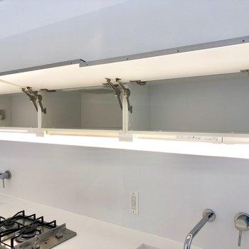 鏡の奥は収納に。換気扇までも収納の奥ですよ。※写真は3階の同間取り別部屋のものです