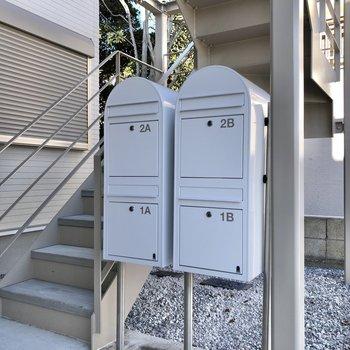 メールボックスはかわいいデザインです。