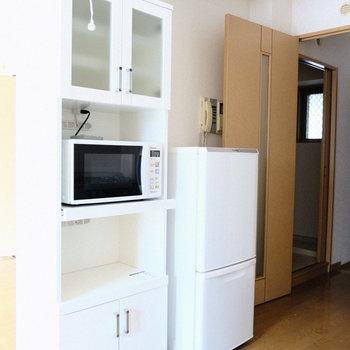 食器棚などを置いてもいいですね◎(※写真は5階の反転間取り別部屋のものです)