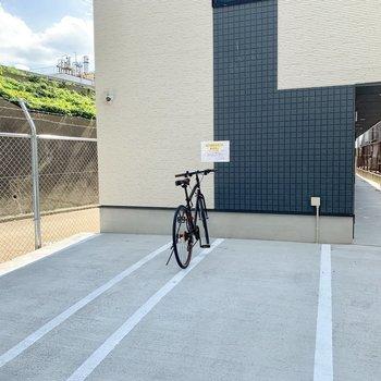 自転車も置けるので安心!