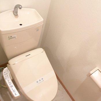 トイレは綺麗です。(※写真は5階の同間取り別部屋のものです)