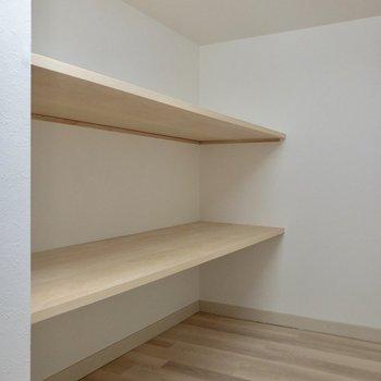 【ロフト】日用品はここへ。※写真は2階の反転間取り別部屋のものです