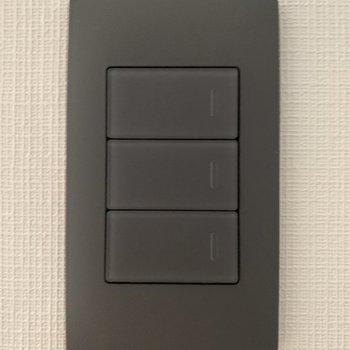 スイッチはほんのり透明感のあるブラック!