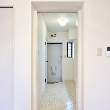 ドアの先はこちらも広めなキッチンスペース。