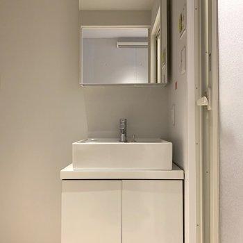 洗面台もデザイン性◎(※写真は2階の同間取り別部屋のものです)