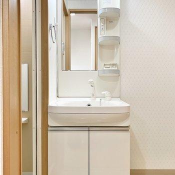 シャワーヘッドの洗面台のお隣に...(※写真は5階の同間取り別部屋のものです)