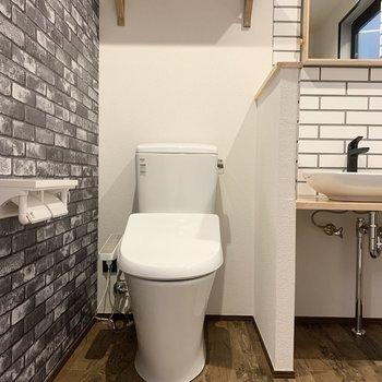 温水洗浄機能付き便座のトイレです。