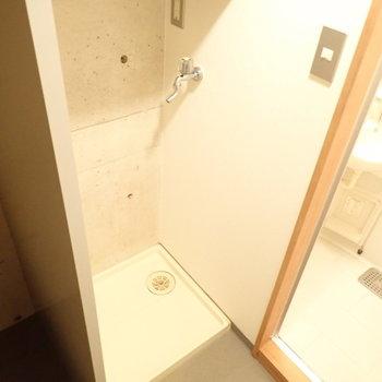 脱衣所に洗濯機とトイレがあります。