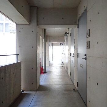 共用部】クールな雰囲気の廊下。