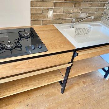 調理スペースもあり、シンクも広いので使いやすいですね。