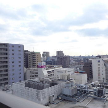 眺めが気持ちが良いです!(※写真は10階の別部屋からのものです)