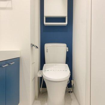 トイレも脱衣所内にあります。