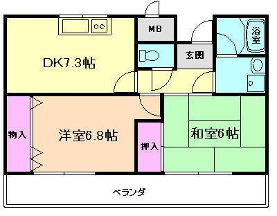 ボーグ新大阪の間取り