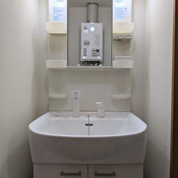 洗面台は独立式。身支度がしやすいです。