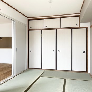 【モデルルーム画像】畳と引き戸を新しく変えた気持ちの良い和室!(和室/洋室/リビング拡張から間取りを選べます)