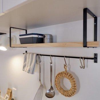 【イメージ】飾り棚も付いて、気分はカフェのキッチンに!