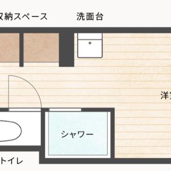 個室にはシャワールーム・トイレ・洗面台が備えられています。