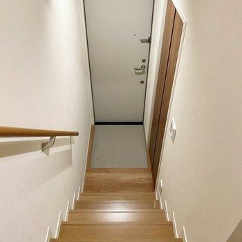 1階にあり、シンプルなデザイン。