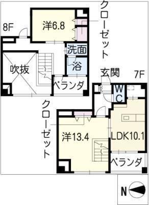 名古屋ASTONビル THE ASTON HOUSEの間取り