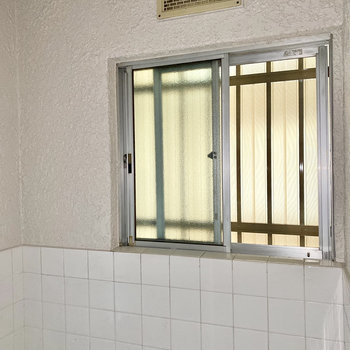 湿気対策にもある小窓付き。※写真は通電前・フラッシュを使用しています