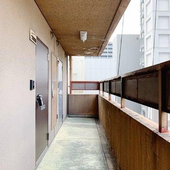 共用部をまっすぐ進んで、奥から2番めのお部屋です。