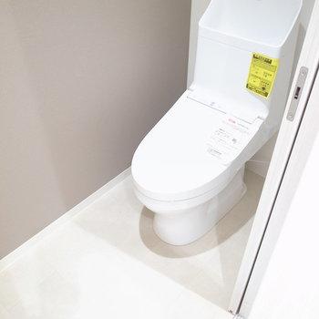 冷蔵庫置き場と同じ並びにトイレがあります。