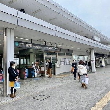 駅の横にカフェもあるんです。