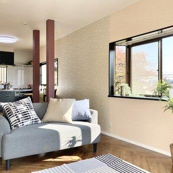 【LDK】出窓には何を飾ろうかな。※家具はサンプルです