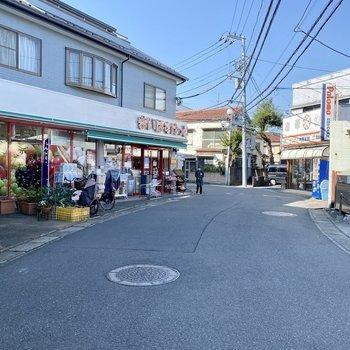 駅までの道中にスーパーがありました。お買い物は帰り道で済ませられそうです。