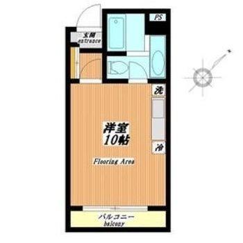 約10帖ほどある広い1Rのお部屋になります。