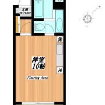 10帖ほどある広い1Rのお部屋になります。