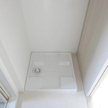 洗濯機は脱衣スペースに。(※写真は3階の同間取り別部屋のものです)