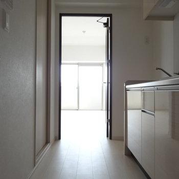 玄関からの眺め。(※写真は3階の同間取り別部屋のものです)