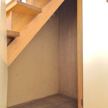 階段下も有効活用されています。