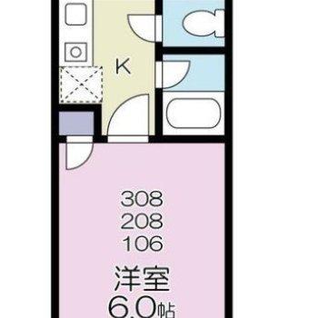 四角い間取りで、家具が置きやすいな。