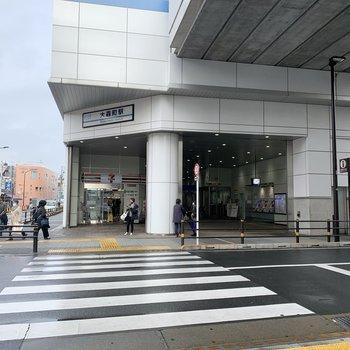 最寄りの大森町駅周辺は穏やかな雰囲気。