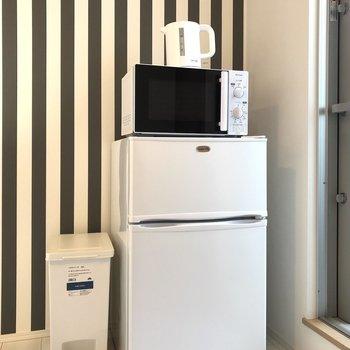 冷蔵庫も設置済みです。