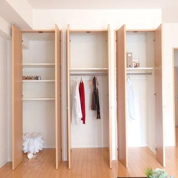 しっかりサイズの収納(※写真は2階の同間取り別部屋、モデルルームのものです)