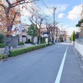 お部屋近くは静かな住宅街です。