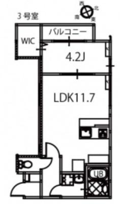 リノリノアパートメント舟入南の間取り図