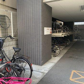 もちろん駐輪場もあります。