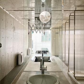 洗面台が近未来的!?