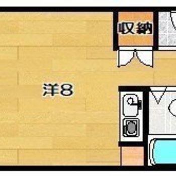 シンプルなワンルームです。