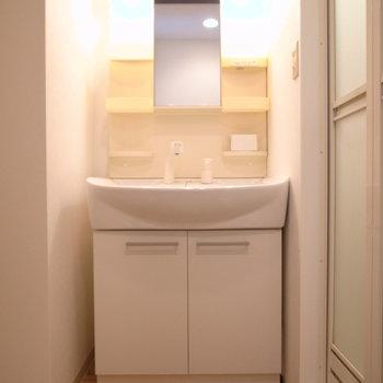 お風呂を出て右手に洗面台、