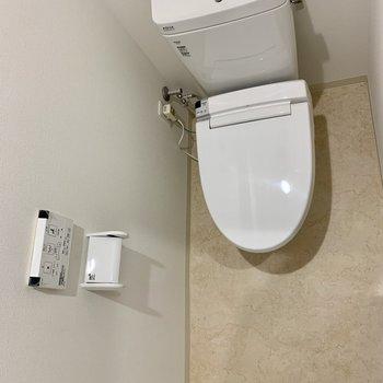 トイレはウォシュレット付きで、コンパクトな広さでした