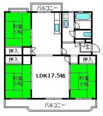 東新井団地2号棟の間取り