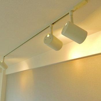 ライティングレールで好みの照明に ※写真は4階同間取り・別部屋のものです。